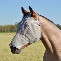 CASHEL STANDARD FLY MASK HORSE With COVERS Long NOSE sun protection ALL SIZES