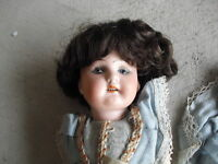 1920s Germany Bisque Head Composition Girl Woman Doll DEP 193
