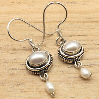 AAA FRESH WATER PEARL & PEARL Beads Beautiful Lovely Earrings 925 Silver Plated