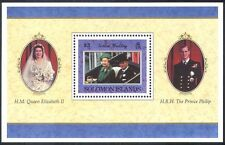 Isole Solomon 1997 REGINA ELISABETTA/ROYALTY/Golden Wedding/CARROZZA 1v M/S (n30662a)