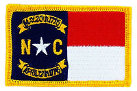 FLAG PATCH PATCHES North Carolina  IRON ON EMBROIDERED UNITED STATES USA STATE