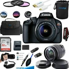 EOS Rebel T100 Digital SLR Camera with 18-55mm Lens Kit + Essential Accessories