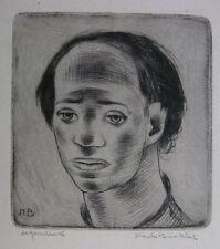 HENK BROKKE (HENDRIK BROKKE) ´PORTRAIT EINES JUNGEN MANNES´, RADIERUNG, ~1945