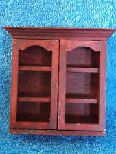 Miniature Dollhouse Wood Stained Hutch