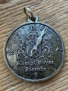 Charivari Anhänger Bieruhr König Ludwig Bayern 16 Bier Trachtenschmuck