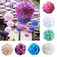 Flower Kissing Ball Wedding Silk Rose Ball Party Pomander Party Hanging Decor