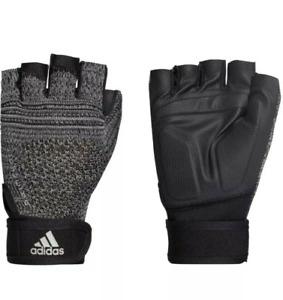 Adidas Primeknit Training Gym Weight Gloves Size XXL Black/Gray Half Finger