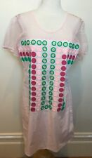 REBECCA THOMPSON Pale Pink Embroidered Circle Applique Cotton Shift Dress 3 (12)