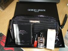 GIORGIO  ARMANI LADIES BLACK CLUTCH BAG + 5ML SI PERFUME & LIPSTICK SAMPLE BNIB