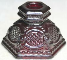 """Vintage Avon Cape Cod Ruby Red Crystal 2-1/2"""" Single Candle Holder Excellent"""
