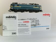 Marklin HO 3363 SNCB Serie 16 #1606 in green/yellow overhead electric loco boxed