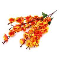 7pcs/Set Blossom Cherry Plum Branch Silk Flower Bouquet Wedding Party Decor