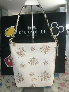 COACH Mini Abby Duffle With Rose Bouquet Print 91022 Im/Chalk Multi