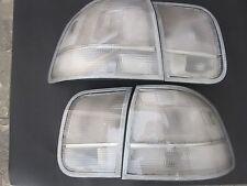96 97 98 HONDA CIVIC 4 Dr Sedan Tail Lights All Clear Rear Lamps Lenses