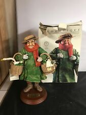 Norman Rockwell Clothtique sculpture Man with Geese in Basket