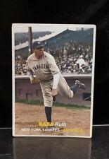 BABE RUTH #75 Baseball Card ORIGINAL 1957 Topps Style