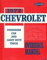 CHEVROLET 1973 SHOP MANUAL OVERHAUL SERVICE REPAIR BOOK