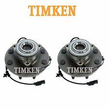 For Dodge Ram 1500 RWD Pair Set of 2 Front Wheel Bearings & Hub Assies Timken