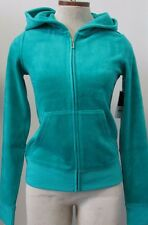 "SALE NWT Juicy Couture Classic Hooded Hoodie Jacket ""Emerald Bay"" Size S"