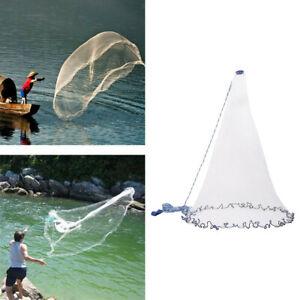 8/10/12 / 16FT Diameter Saltwater Fishing Casting, Easy Cast Net