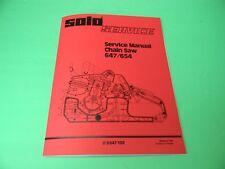 Solo Chainsaw Service Manual 647 / 654 - Man125