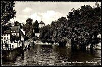 Überlingen am Bodensee alte Ansichtskarte 1964 Teilansicht Partie am Mantelhafen