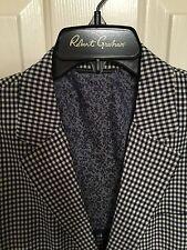 NWT Mens Robert Graham Dumont Blue Size 36 Regular Sport Coat Jacket
