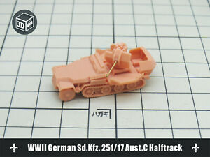 1/144 RESIN KITS WWII German Sd.Kfz. 251/17 Aust.C Halftrack (3D)