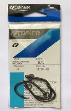 OWNER 6/0 Offshore Ringed Hooks Saltwater XX Strong 5129R-161 3 pcs/pk Size 6/0