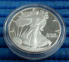 1986 American Silver Eagle 1 oz 999 Fine Silver Proof Coin with box & COA