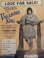 """DENNIS KING """"LOVE FOR SALE!"""" SHEET MUSIC 1925 the vagabond king waterson"""