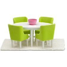 Lundby 60.2054 Smaland Esszimmer Möbel Tisch Stühle grün für das Puppenhaus