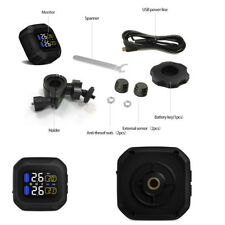 Motorcycle TPMS Tyre Tire Pressure Monitoring System with External Mini Sensors