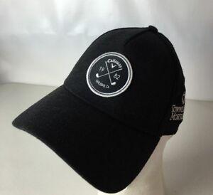 Callaway Golf Hat Cap 1982 Carlsbad Mesh Adjustable Strapback TowneBank Black