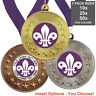 SCOUT METAL MEDALS 50mm, PACK OF 10 WITH RIBBONS, INSERTS, 3 PACK OPTION