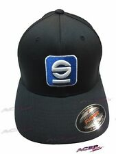 """Sparco Cap authentic racing hat """"S"""" Icon Black Lrg / Xlrg apparel"""