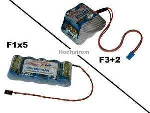 Hochstrom Empfängerakku XCell SCR 6V4500 mAh mit mehrere Optionen...