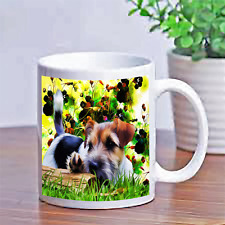 Custom Personalized Design Photo Puppy Dog Terrier Coffee Cup Mug Gift Box