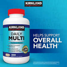 Kirkland Signature Daily Multi, 500 Tablets, Multivitamin