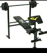 everlast gym bench weights dumbbells 20kg set new