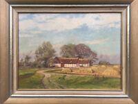 IMPRESSIONIST AXEL KLEIMER (1881-1945) BAUERNHOF IN SCHWEDEN - 64 X 80 CM