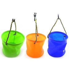 Foldable EVA Water Bucket with Rope Belt Outdoor Fishing Tackle Camping Fold S