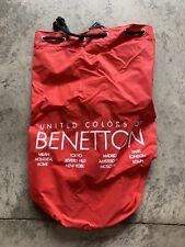 Vintage United Colors of Benetton Red PVC Shoulder Strap Duffle Bag
