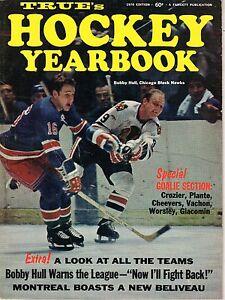 1970  True's Hockey Yearbook Magazine, Bobby Hull, Chicago Blackhawks ~Very Good