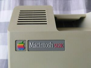 1984 Apple Macintosh 512K + System Saver Mac cooling fan