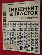OCTOBER 1990 IMPLEMENT & TRACTOR PRODUCT FILE MAGAZINE