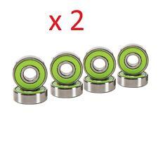 Abec 7 Skateboard Bearings 2 Set of 8 Pcs Green