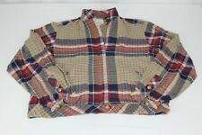 Vtg 70s Weathervane Womens Size 8 Beige Plaid Zip Top Mechanics Light Jacket
