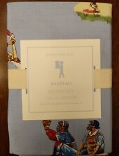 Brand New! Pottery Barn Kids - Standard Pillowcase - Blue Vintage Baseball