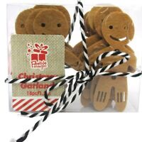 120cm 18pc Gingerbread Man Garland Tree Bauble Decoration Christmas Bunting Dec